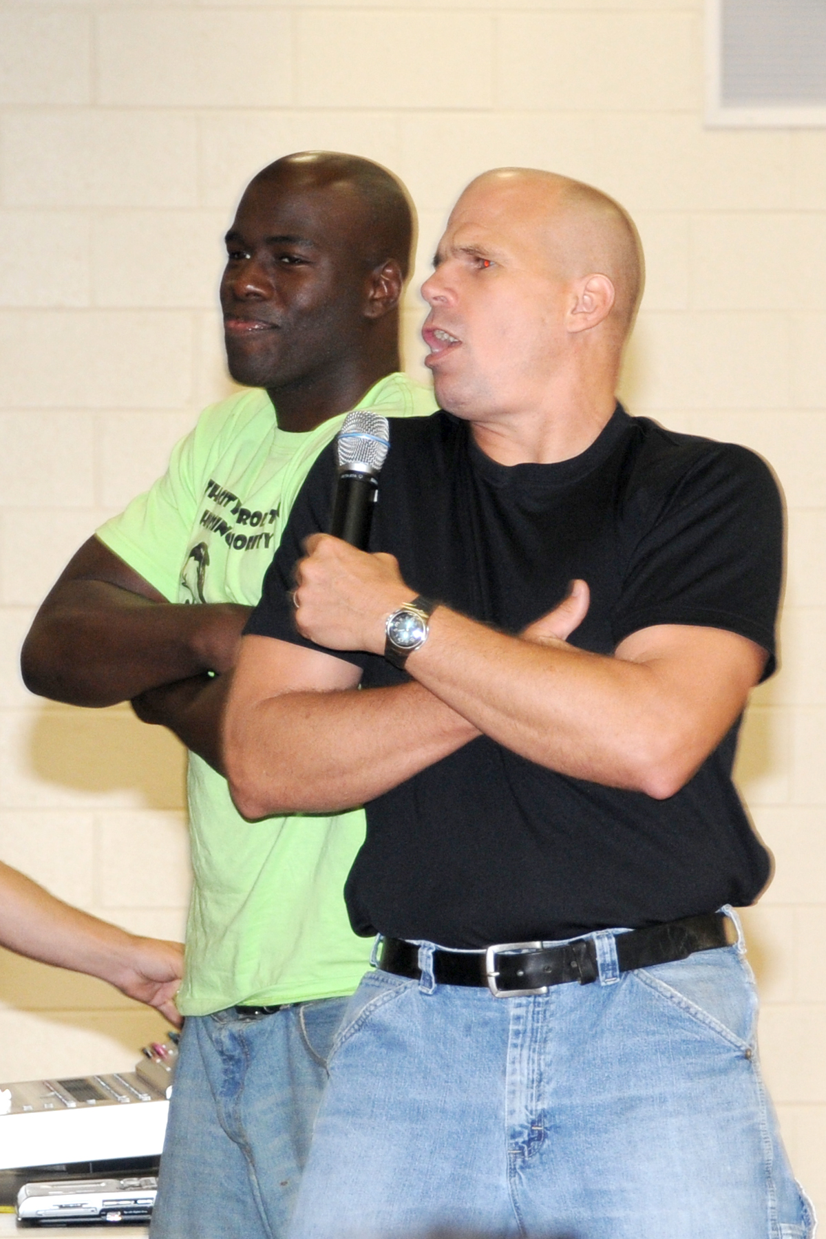 Keith Deltano performing at an ant-bullying assembly